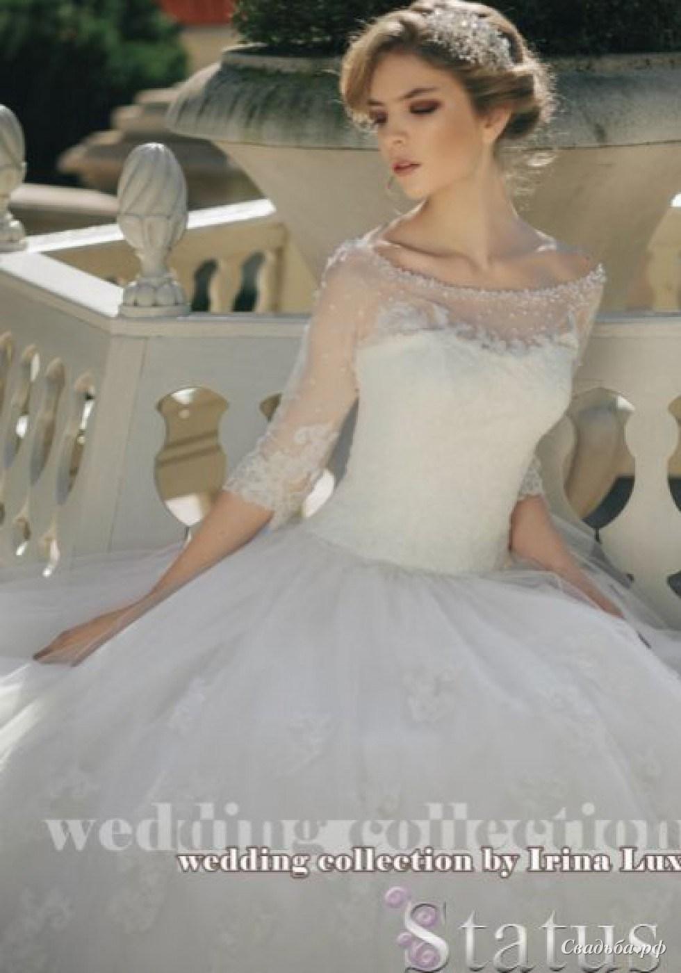 белое вязаное платье из мотивов крючком